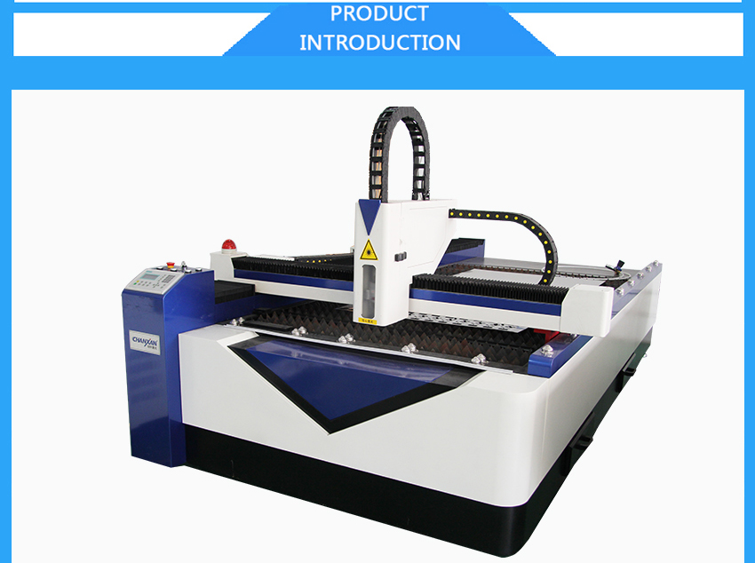 CW-1325 200W 500W 1000W big flat bed fiber laser laser cut METAL shapes from Chanxan