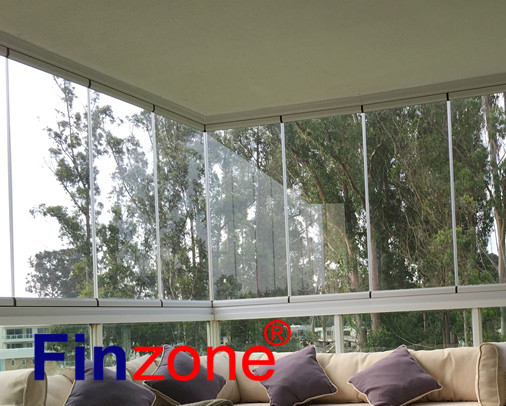 top favorite balcony glazing window system with tempered glass