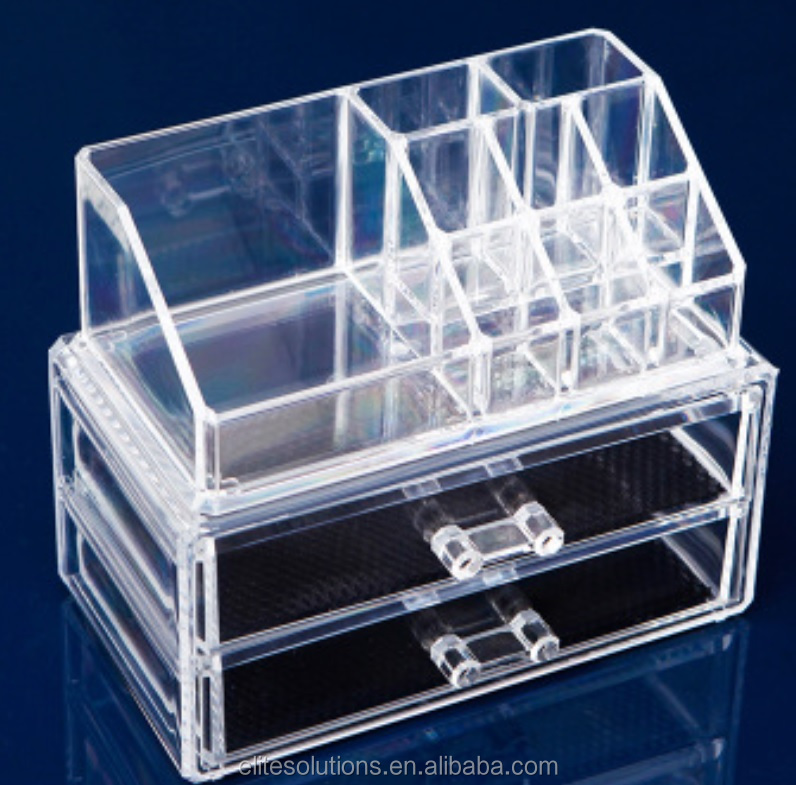 Acrylic/PS/Plastic Clear Storage Use Makeup Organizer With Drawers OEM Available