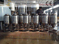 50L home brewery equipment,conical fermenters with dimple jacket