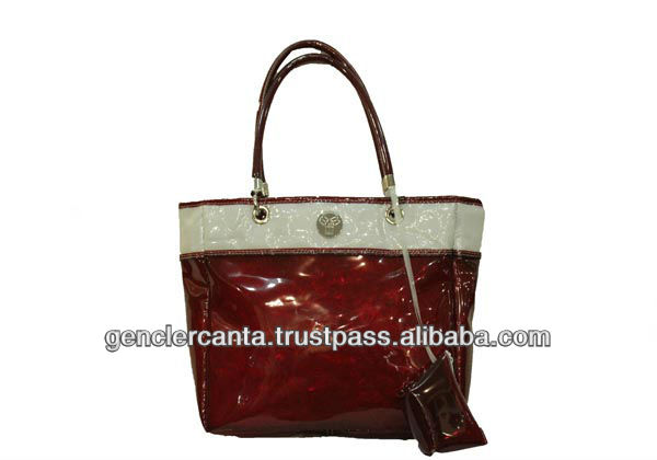 special brand ladies handbags made from transparent