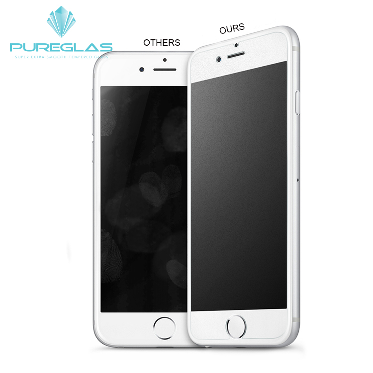 new 2.5D round edge premium glass 9h hardness anti glare tempered glass screen protector guard for iPhone 7