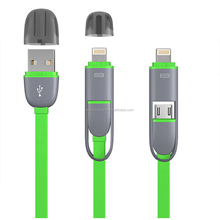 Sync mobile phone USB to micro usb 8 pin Data Cable 2 in 1 multi Charging Cable for iphone 5 6 6s 7 plus for Android