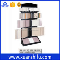 unglazed tile showroom for product display travertine and glass mosaic tile Building Ceramics Fair display shelf