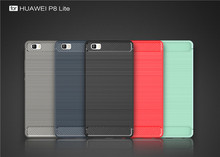 Carbon Fiber Soft TPU Cover for Huawei P8 Lite,for Huawei P8 Lite TPU Case