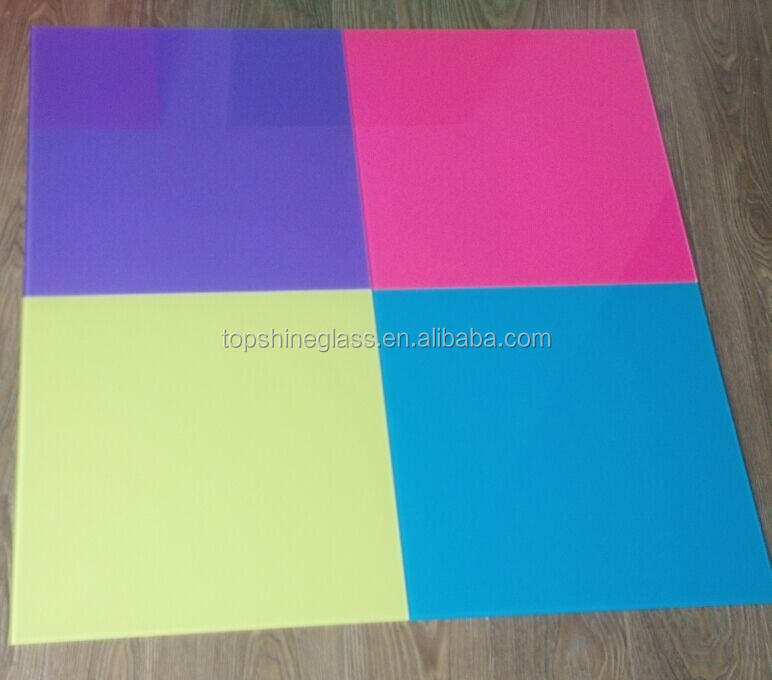 3.2mm 4mm lacquered glass notice board ANSI and EN12150 certificate