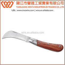 A220830 Stainless Steel Single Blade Folding Knife Curved Pocket Knife