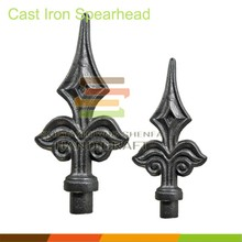 Cast and forged iron metal gate spear