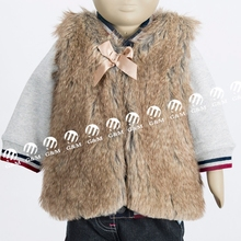 Europea Baby Winter Faux Fur Vest,High Quality Fur Vest