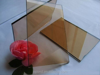 5mm-19mm Bronze Float glass panes/ tempered glass for window