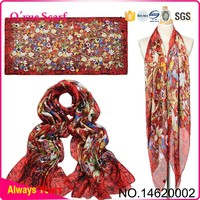 Microwave Imitated Silk Scarf