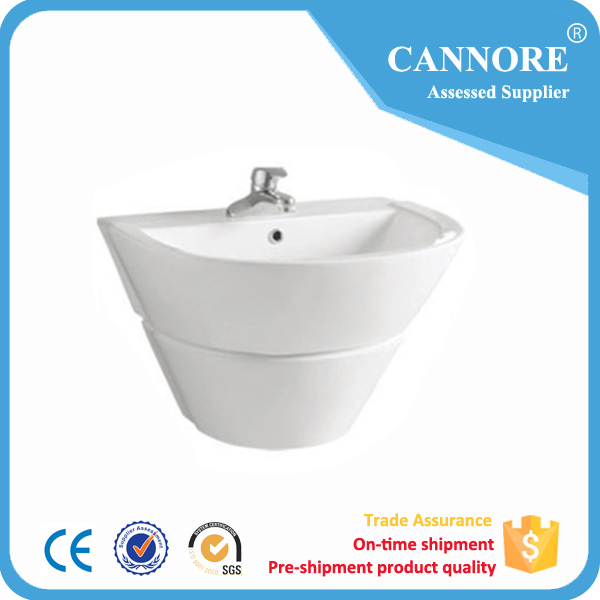 Fancy design modern european style factory low price ceramic wall hung basin