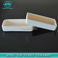 crucible aluminum high temperature crucible /boat with stable quality and low price
