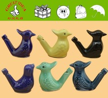 2016 new colour ceramic bird whistle for kid, colour glaze watering bird whistle, best toy for sourvier. wholesale bird whistle