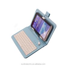 For ipad mini case with keyboard leather purple , with micro usb tablet keyboard case