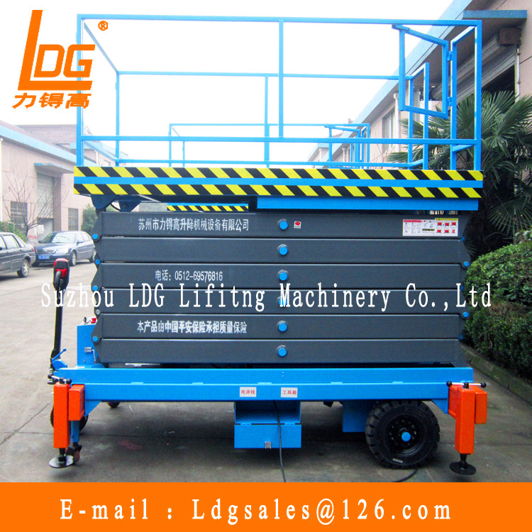 500kg 11m Self-propelled hydraulic lift with SJZ0.5-11