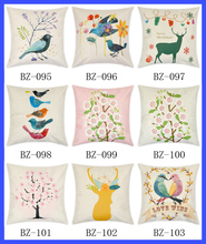 "17.3*17.3"" Plain Linen Pillow Case Cover Large Zipper Pillow Covers Fancy Painting Pillow Covers"