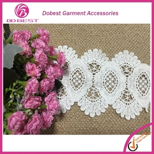 Wholesale Guipure Embroidery Rolls Of Lace Trimming/Water Soluble Trim/Flowers Lace Trim For Garment