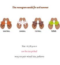 CFP A028 Lady Personalized Sandals Triangle Monogram Flip Flops