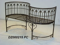 Metal Curved Park Kissing Bench and Love Seat Chair