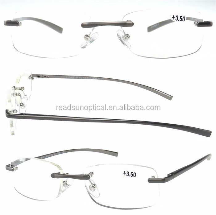 Cheap and good quality metal rimless reading glasses