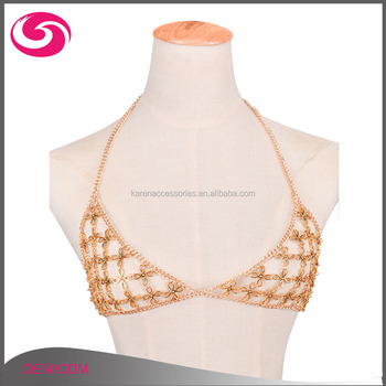 New Free Sample Sexy Gold/silver Plating Body Chain