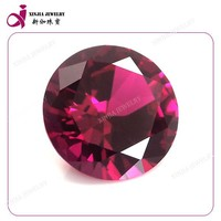 Wholesale round 10mm 5# ruby low price of synthetic loose ruby gems