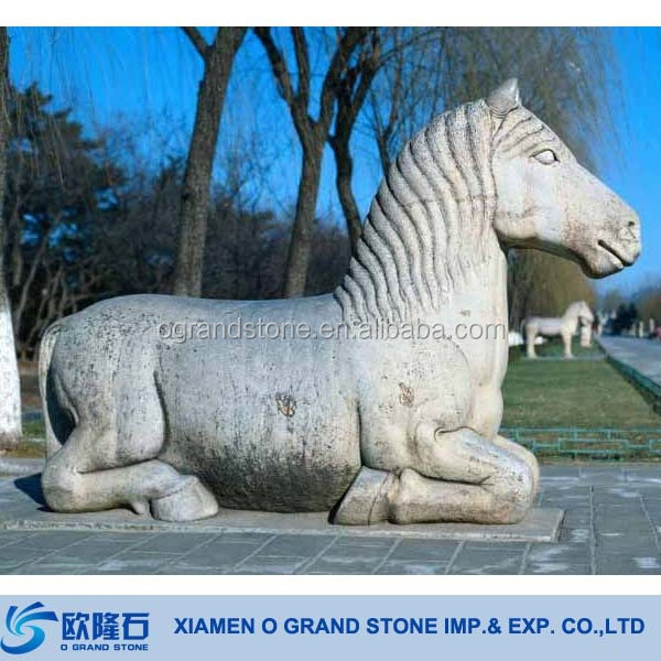 Outdoor Large Stone Horse Garden Statues Linyi