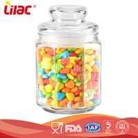 factory wholesale food graded High capacity squared shape fancy durable candy glass jar