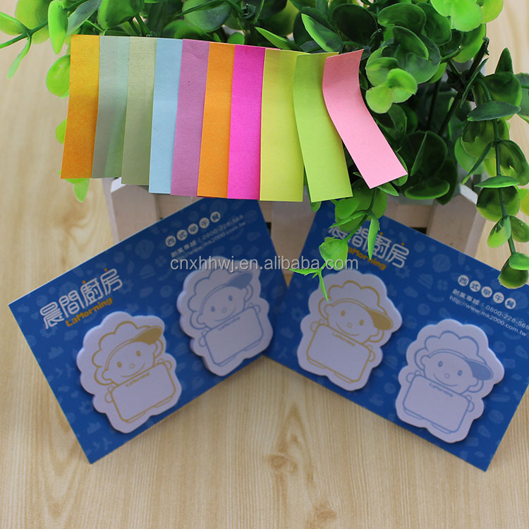 promotional die cut memo pad /erasable sticky note