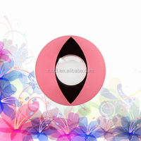 Cute pink cat eyes color and crazy contact lenses/ best selling crazy contact lens/cosmetic plano crazy contact lens