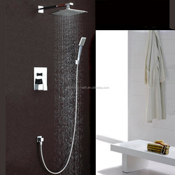 High Quality Bathroom Concealed Rainfall Square Shower Set Faucet Bath Tap Mixer