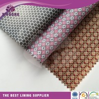 210T Polyester taffeta luggage lining fabric/unique printed lining