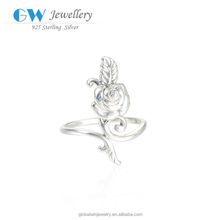 Elegant Rose Ring Jewelry For Lovers 925 Sterling Silver