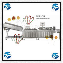 Flat / Hard Round Colorful Lollipop Candy Manufacturing Machine