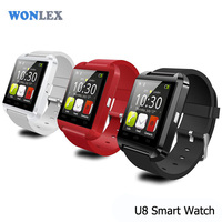 Wonlex Wrist watch for iPhone 6/5/5S/4/4S for S5 S4 Note 4 Android Phone Smart phone Update U8 Bluetooth