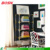 4 layer popular hot sell clear acrylic with brass bookcase