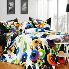 high quality colorful quilt cover set with 100 cotton fabric