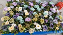 Europe style artificial flower wall plastic flower wall for wedding backdrop decoration