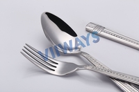 Different kinds of flatware children cutlery spoons forks knives stainless steel cutlery