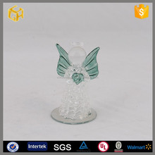 100 wholesale transparent glass angel ,angel figurines for christmas decor