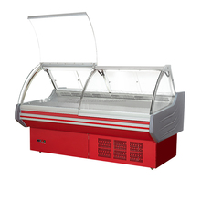 Bromic stainless steel work bench and top lift-up horizontal serve-over deli display