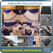 portable event backdrop poles/aluminum double curtain rods/western wedding backdrop design