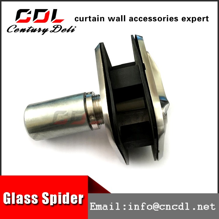 304 316 stainless steel piont-fixed curtain wall glass clamp