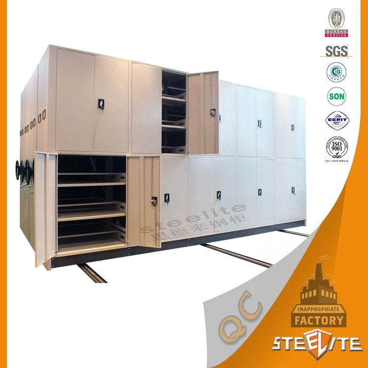 Luoyang high quality knock down structure movable file book mass shelf for library and archives
