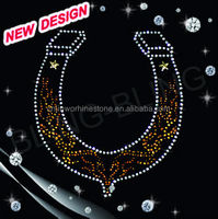 Horseshoes western rodeo rhinestone design