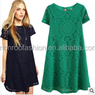 monroo 2014 NEW PATTERN EASY HOLLOW LACE WOMEN'S DRESS
