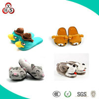2013 Cute Lovely Plush Animal Duck Slippers