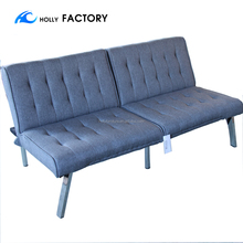 Futon Sofa Bed Modern Convertible Couch With Chrome Legs Quickly Converts into a Bed OFFICE SOFA