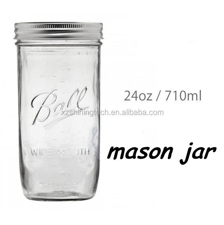transparent glass mason jar ball